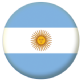 Argentina Country Flag 25mm Flat Back